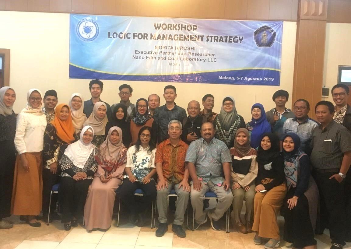 """Logic for Management Strategy"" Workshop by Hiroshi Morita (Nano Film and Coat Laboratory LLC, Japan)"